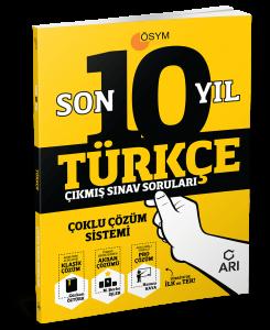 Türkçe Son 10 Yıl Çıkmış Sınav Soruları (Çoklu Çözüm Sistemi)