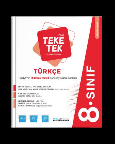 Pruva Akademi - 8. Sınıf Türkçe Pruva Teke Tek
