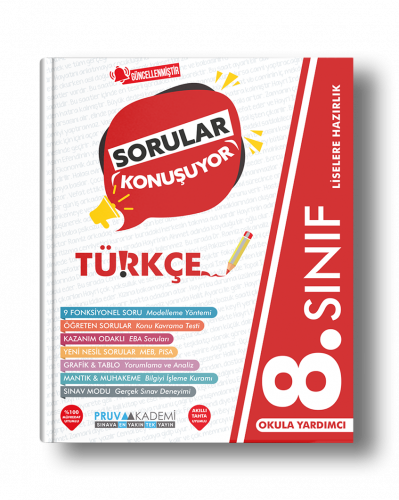 Pruva Akademi - 8. Sınıf Türkçe Soru Bankası